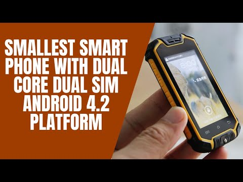Smallest Smart Phone With Dual Core Sim Android 4 2 Platform