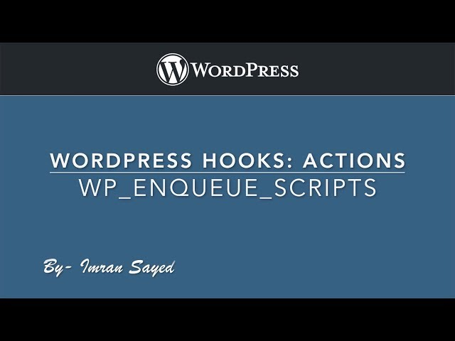 WordPress Hooks Actions - wp_enqueue_scripts Part-4 Example