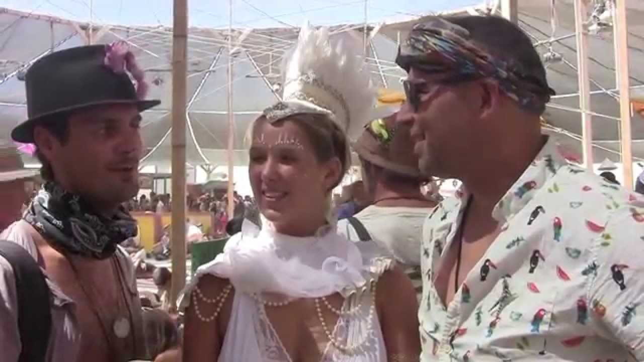Hub Culture Camp at Burning Man 2015 with Groovy & Shady Lady