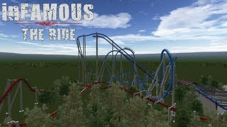 inFAMOUS: THE RIDE | No Limits Inverted Coaster | HD