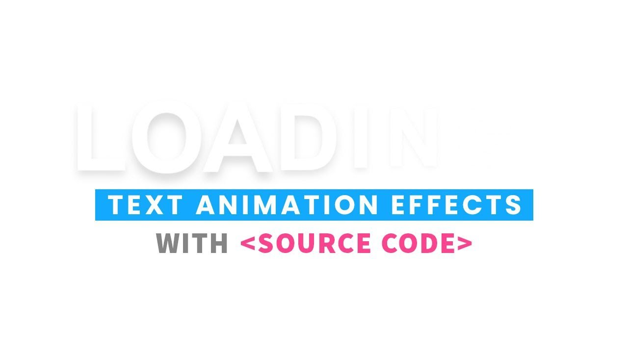 Loading Text Animation Effects | CSS Text Shadow