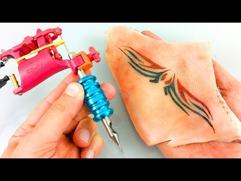 ✔ Watch This Tattoo Machine, Practice Before Tattoo In Human Skin