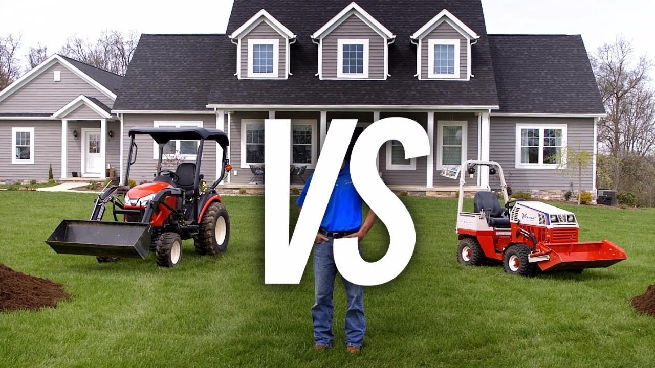 Ventrac vs  Compact Tractor