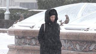 Снегопад в первый день зимы