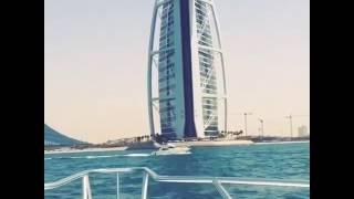 View of the yacht Dubai jbr burj al arab