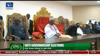 Fayose Seeks Ado Ekiti Monarchs Blessing For Successor | News Across Nigeria |