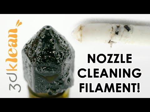 Clean a DIRTY nozzle with 3dklean filament - It works!