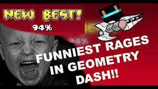 FUNNIEST RAGES IN GEOMETRY DASH!! [RAZING717 MONTAGE]