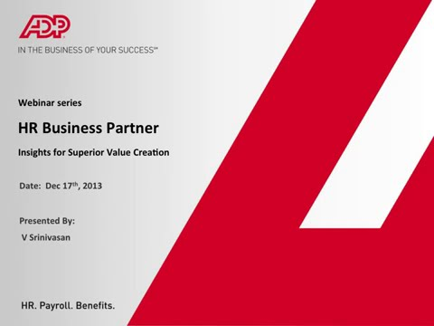 HR business partner - Insights for superior value creation