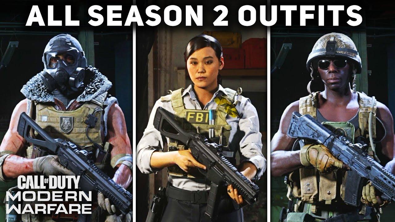 All Season 2 Operator Outfits Uniforms Showcase Call Of Duty