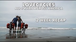 2 week update about our Cross Country Ride!-Ryan and Ali Bike Across America-Episode 6