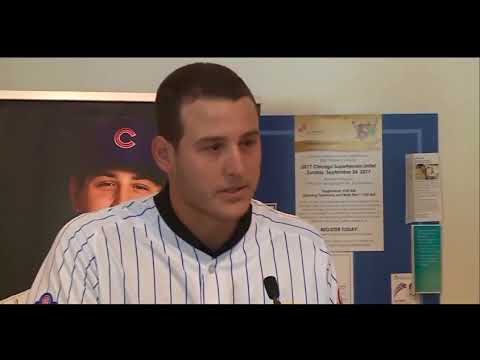 Rizzo gets emotional at Lurie Children's Hospital unveiling 'Bigger than winning the World Series'