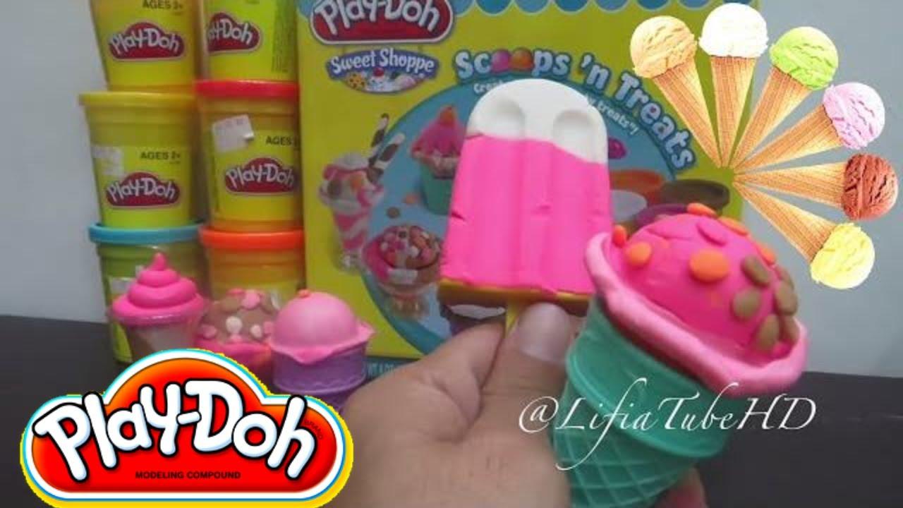 Mainan Anak Es Krim Play Doh Maker How To Make Cupcakes Frozen Ice Cream Pembuat Playset