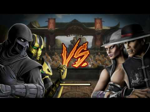 Mortal Kombat 9 Tag Team Ladder Noob Saibot And Cyrax Expert (No rounds,matches lost;no block)