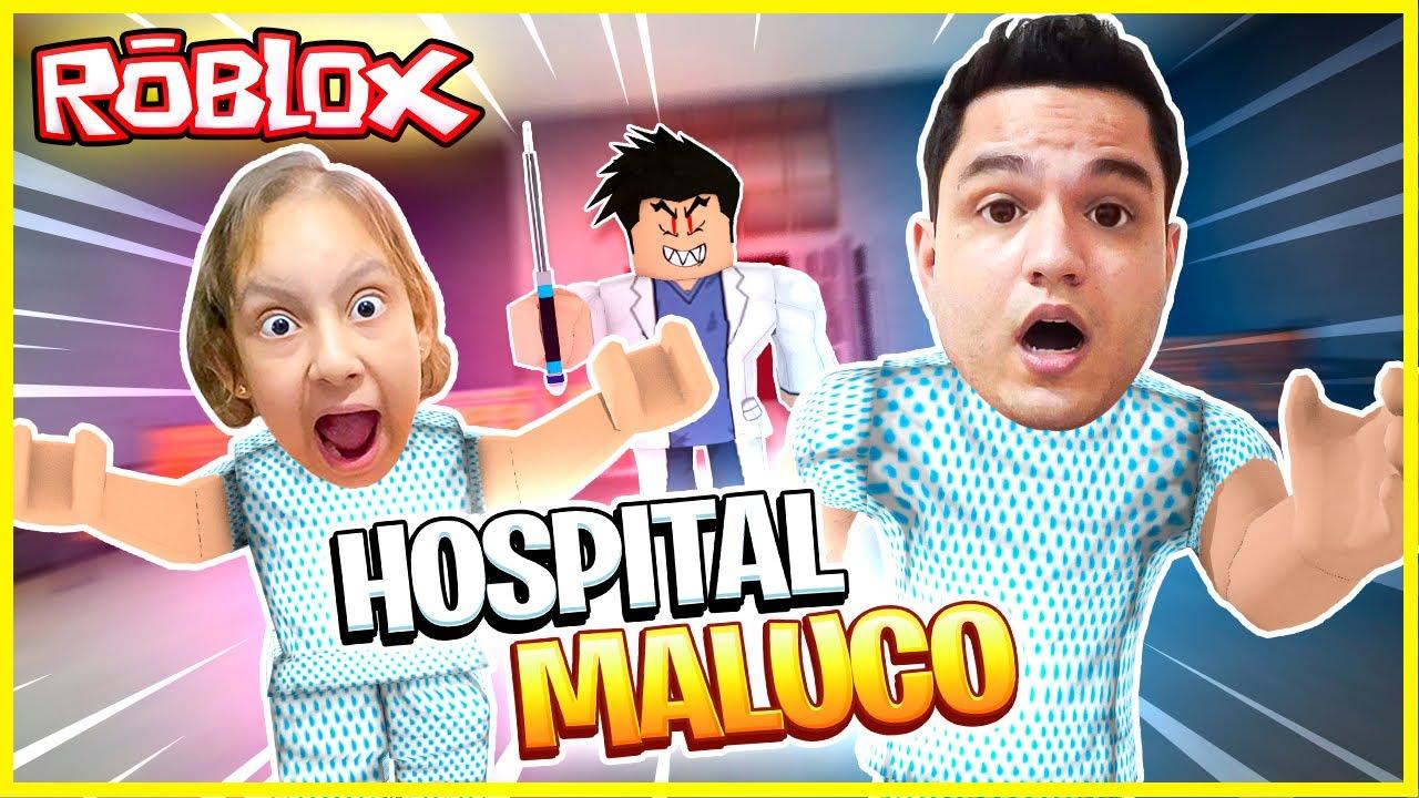 Hospital MALUCO no ROBLOX (Escape The Hospital)- Familia MC Divertida Games #SHORT
