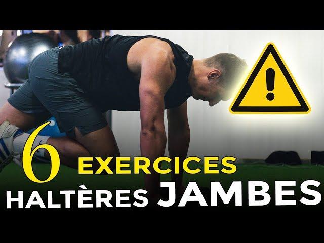 6 EXERCICES JAMBES AVEC HALTÈRES À FAIRE À LA MAISON