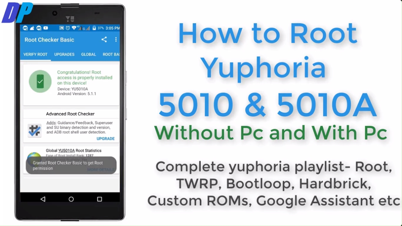 Root yuphoria 5010 and 5010A without pc and with pc