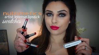 Nutrimetics - Artist Intense Lipstick Swatches | Helen Mourad