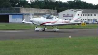 aquila a210 landing and takeoff at kyritz edbk