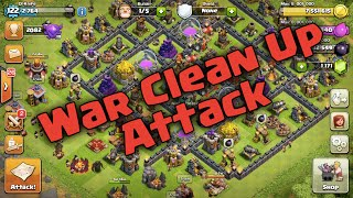 How To Do A Good Clean Up Attack in War - Clash of Clans