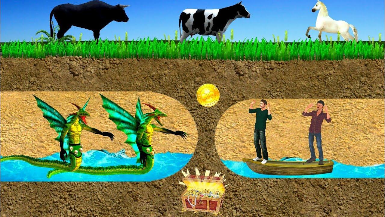 नदी का खजाना जादुई Kahani 3D Hindi Kahaniya Bed Time Stories हिंदी कहानिया Fairy Tales