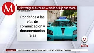 PGJ indaga a dueño de auto Koenigsegg CCXR que chocó en Reforma