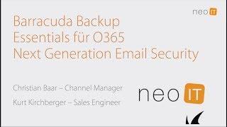 neo-IT Business Talk 2018 - Kurt Kirchberger - Barracuda Backup