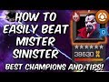 How To Easily Beat Uncollected Mister Sinister - Best Champions & Tips - Marvel Contest of Champions