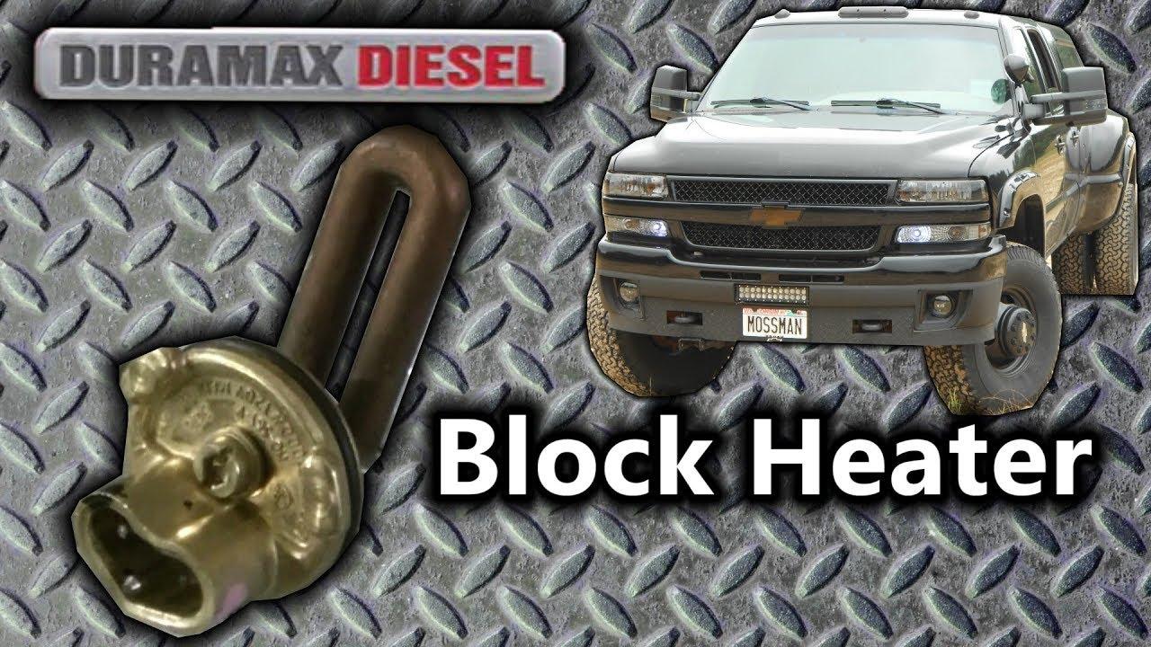 02 silverado duramax lb7 block heater replacement [ 1280 x 720 Pixel ]