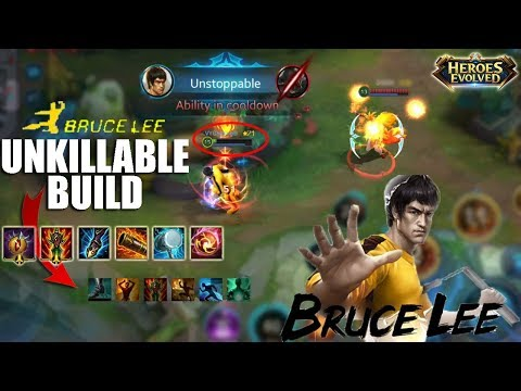 New Hero BRUCE LEE Best Build and How to Use His Skills Combos Full Gameplay - Heroes Evolved