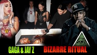 Must SEE! Lady Gaga & Jay Z Caught in Bizarre Satanic Ritual
