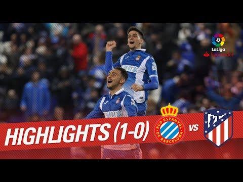 Resumen de RCD Espanyol vs Atlético de Madrid (1-0)