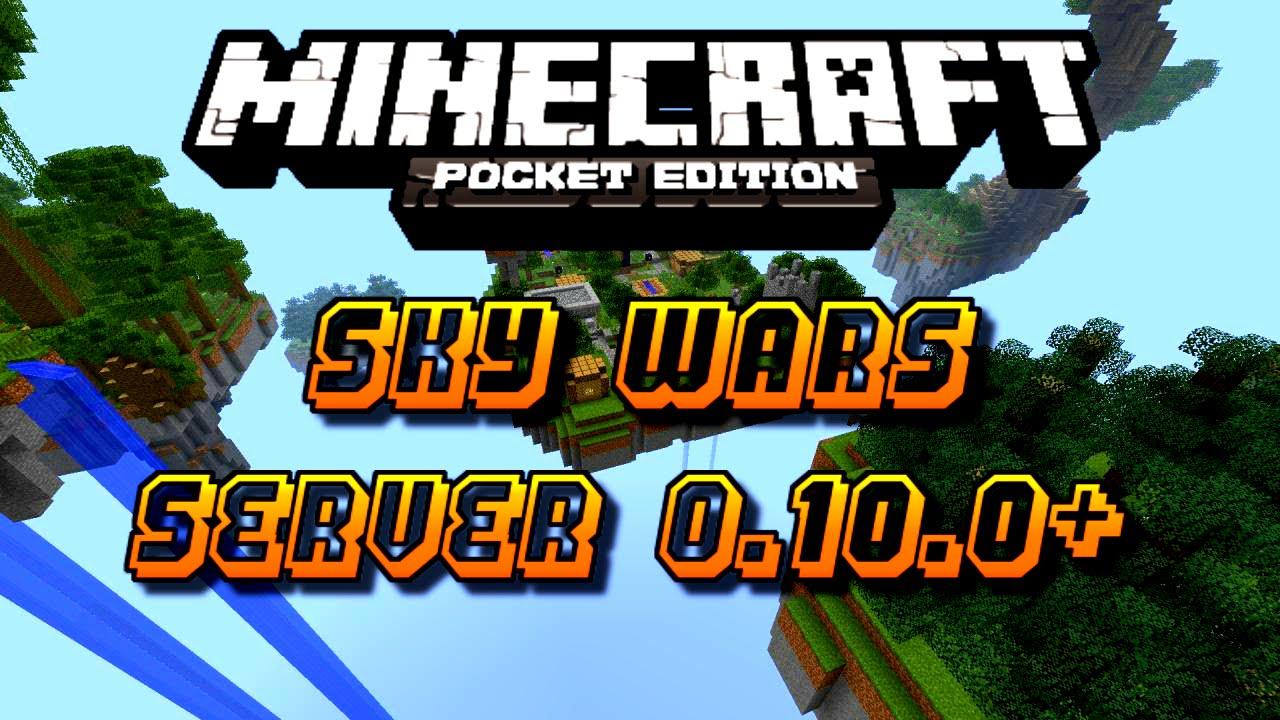 Minecraft PE - Sky wars server! - YouTube