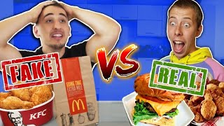 I Did The FAST FOOD VS REAL FOOD Challenge!