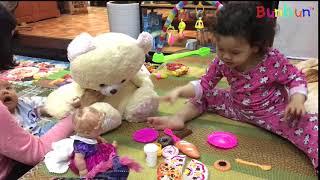 Con Đi Chợ Mua Đồ Tự Tổ Chức Sinh Nhật Với Các Bạn 💓 BunBun Kids TV