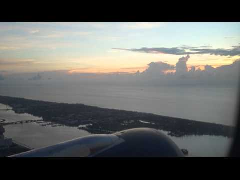 Early morning take off from West Palm Beach International airport , Florida (pbi)