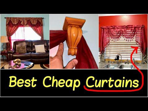 ✅Best Cheap Curtain Drape Sets | Sheer Backing, Valance, Rod Pocket, Curtain Rod & Curtain Holders