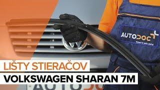 Ako vymeniť lišty predných stieračov na VW SHARAN 7M [NÁVOD]