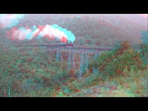 3D Video anaglyph - Mit Dampfg durch die Türkei - Steam train in Turky