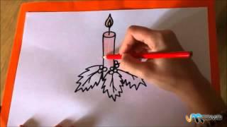 Como desenhar uma vela natalícia