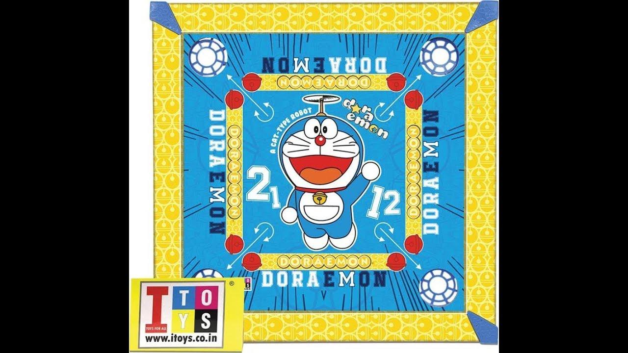 Doraemon Carrom Board And Ludo Board For Kids - YouTube