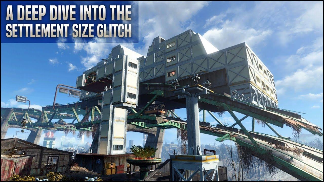 A Deep Dive into the Settlement Size Glitch ???? Fallout 4 No Mods Shop Class