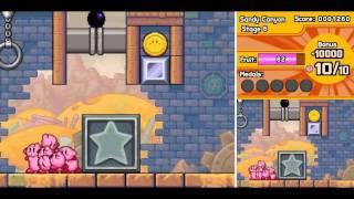 Kirby:  Mass Attack - Level 2:  Sandy Canyon