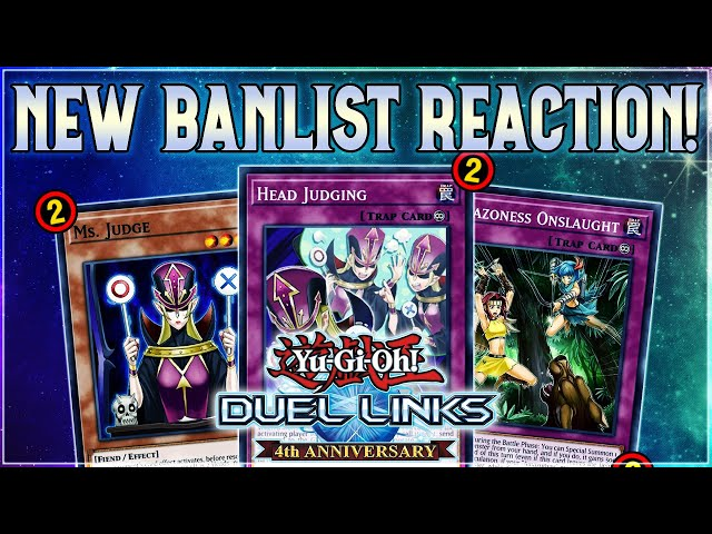 Yu-Gi-Oh! Duel Links | NEW BANLIST REACTION! DING DONG DESPERADO IS GONE! March 2021 Skill Changes!