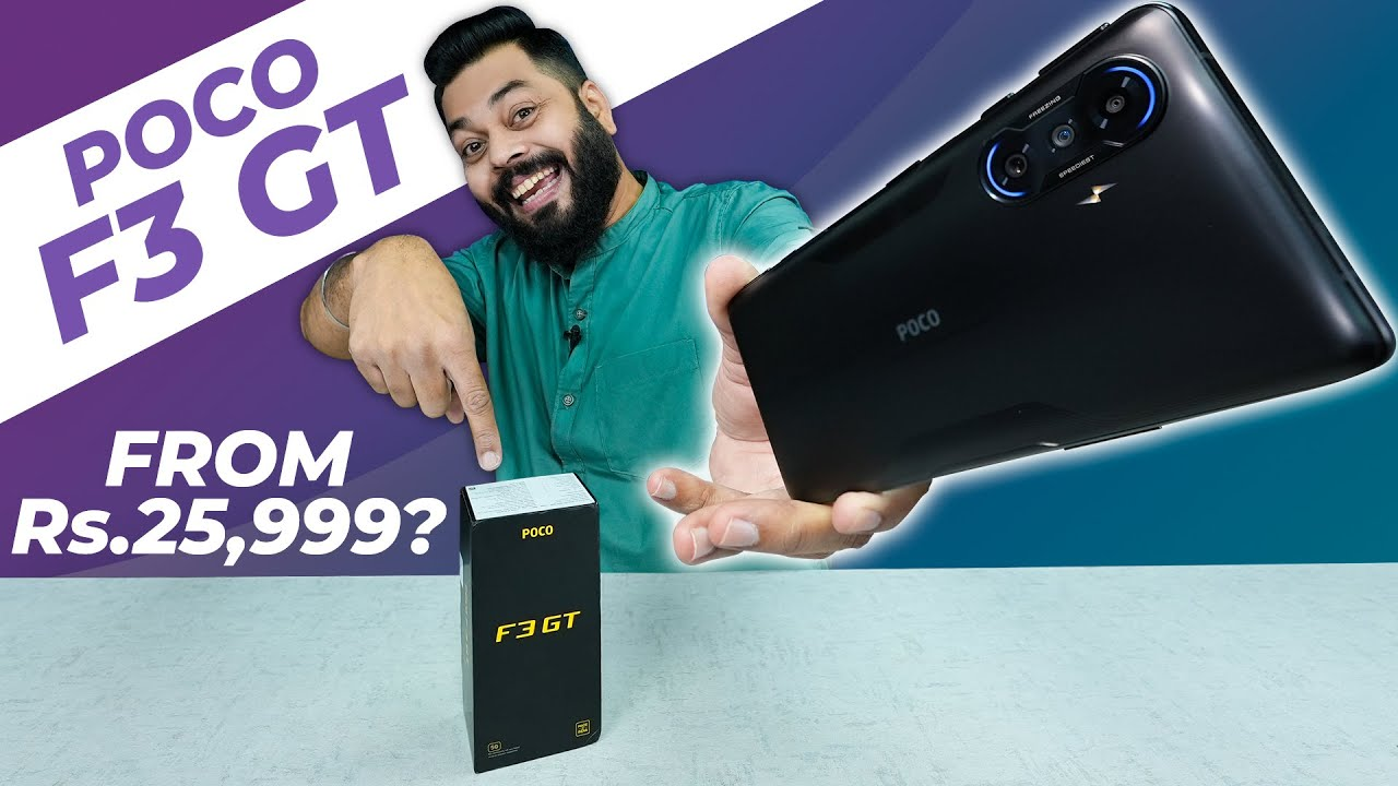 Download POCO F3 GT Unboxing And First Impressions ⚡ Dimensity 1200,120Hz Turbo AMOLED,Maglev Triggers & More