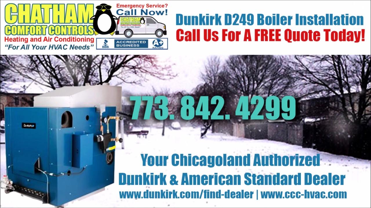 Dunkirk D249 400,000 BTU Steam Boiler Installation/Replacement - YouTube