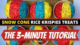 3 MINUTE TUTORIAL - Snow Cone Rice Krispies Treats