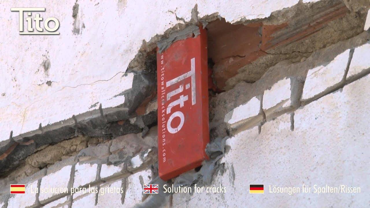 Reparaci n de grieta en pared exterior con grapas tito - Reparar grietas pared ...