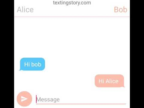 Alice and bob text and Alice's sis ariana