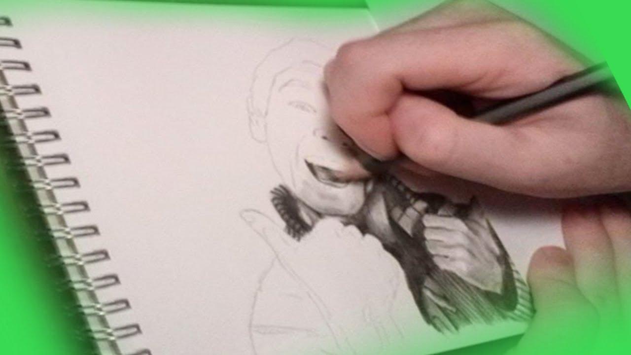 Jordan Draws  Jacksepticeye Aka Sean Realistic Portrait Drawing  Timelapse